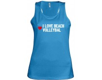 I Love Beachvolleybal Singlet Dames
