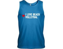 I Love Beachvolleybal Singlet Heren