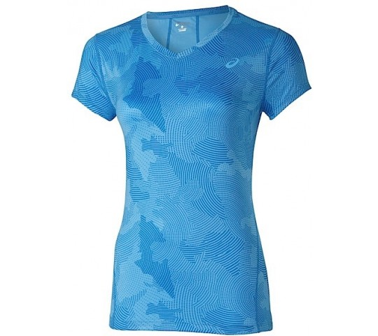 Asics Allover Graphic Top SS Ladies