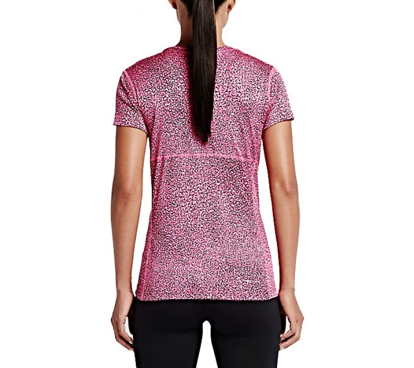 Nike Crackle Miler Crew Shirt Dames