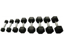 Victory Sports Hexa Rubber Dumbbell 30KG