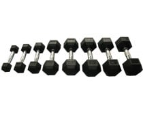 Victory Sports Hexa Rubber Dumbbell 32KG