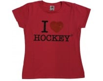 I Love Hockey Shirt Girls