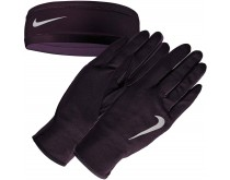 Nike Run Dry Headband Glove Set Dames