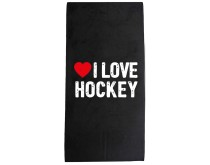 I Love Hockey Handtuch